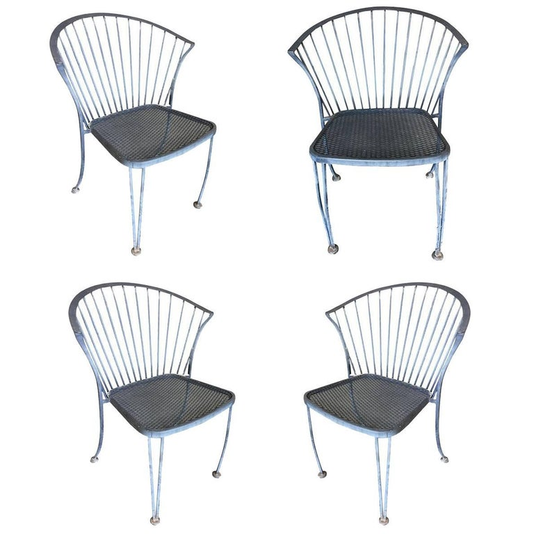 Woodard Pinecrest Wrought Iron Patio/Outdoor Lounge Chair, Set of Four