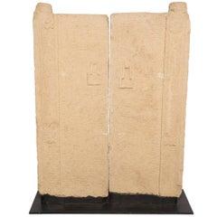 Pair of Chinese Taoist Stone Doors