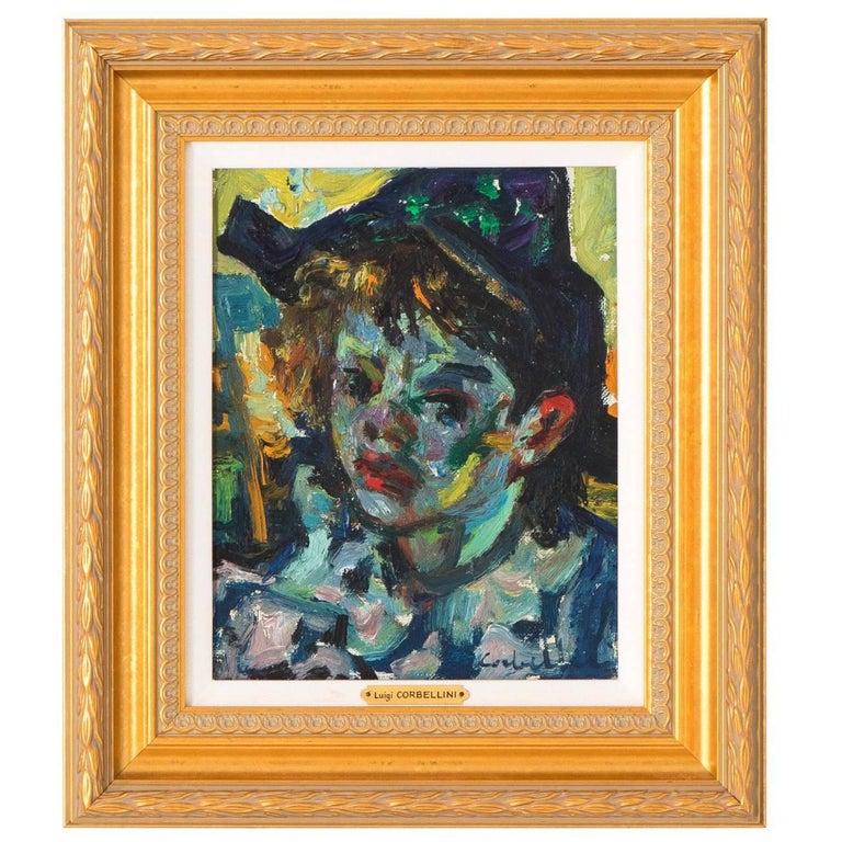 Luigi Corbellini Oil Painting of Young Boy