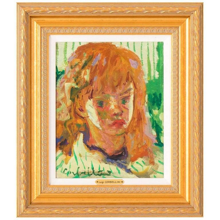 Luigi Corbellini Oil Painting of Young Girl