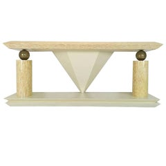 Tessellated Bone / Antler Console Table in the Style of Enrique Garcel