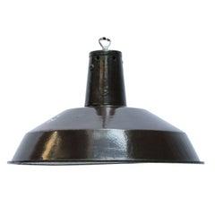 Dark Brown Industrial Enamel Factory Shade Pendant