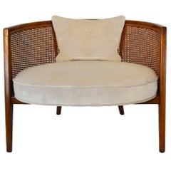 1950s Mid-Century Harvey Probber Model 1066 Hoop Back Cane Lounge Chair