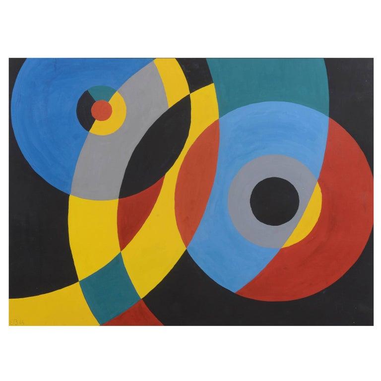 """Composition"" by Étienne Béothy, 1944"