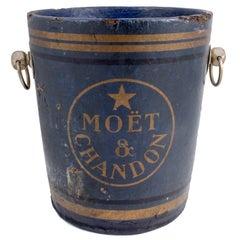 Rare 19th Century French Moët & Chandon Blue Label Papier Mâché Champagne Bucket