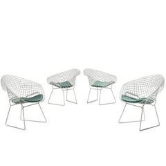 Four 'Diamond' Wire Chairs by Harry Bertoia for Knoll