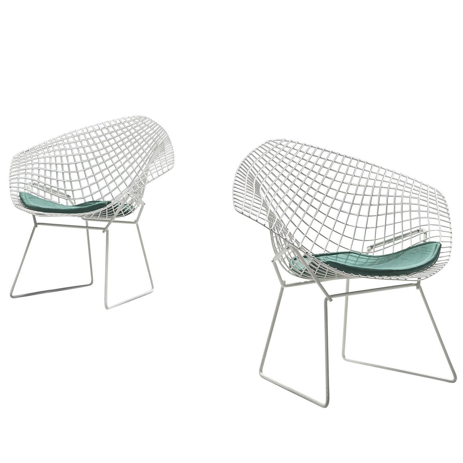 Pair Of Harry Bertoia U0027Diamondu0027 Chairs For Knoll ...