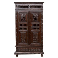 19th Century Brittney Oak Armoire