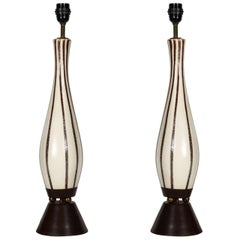 Pair of 1960s Ceramic Table Lamps