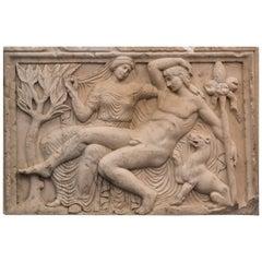Extraordinary and Rare Carrara Marble Relief
