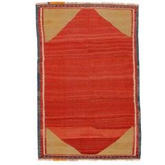 Minimalist Vintage Qashqa'i Kilim
