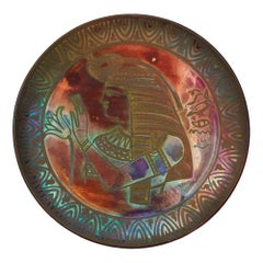 Burmantofts Faience Lustre Egyptian Plaque Joseph Walmsley