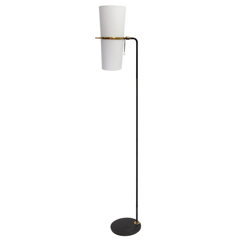 1950s Floor Lamp by Maison Lunel For Sale