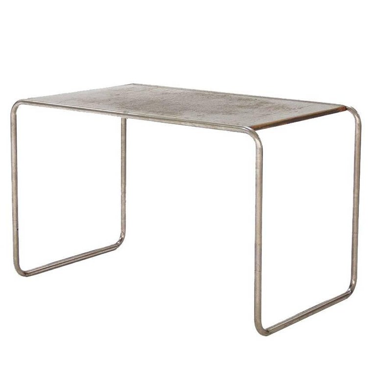 table designed by marcel breuer chromed tubular steel lacquered wood 1930s for sale at 1stdibs. Black Bedroom Furniture Sets. Home Design Ideas