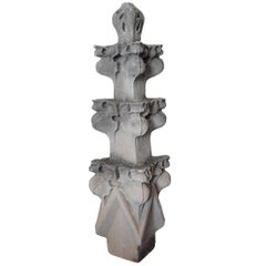 American Carved Stone Finial
