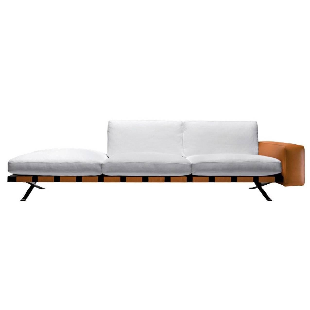 """""""Fenix"""" Right or Left Linear Set Sofa by Ludovica and Roberto Palomba for Driade"""