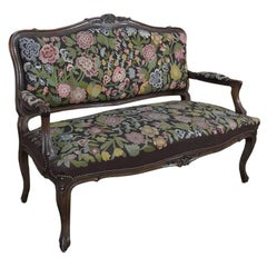 19th Century French Regence Walnut Needlepoint Sofa