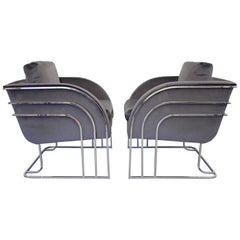 Milo Baughman Lounge Chairs, 1970s