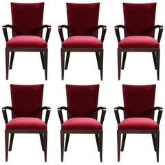 Set of Six Dakota Jackson Modern Dining Armchairs
