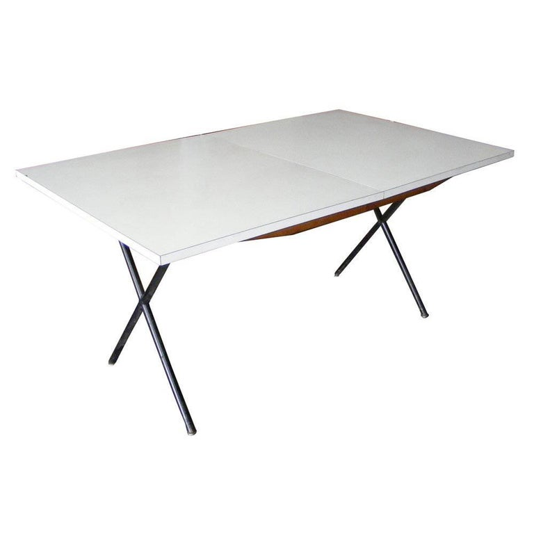 George Nelson for Herman Miller Expandable X-Leg Dining Table Desk