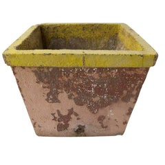 French Painted Cement Planter