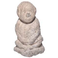 Chinese Stone Monkey Holding Belly