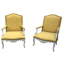 Pair of Large 19th Century, Regence Style Armchairs