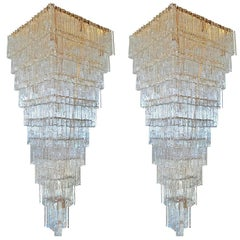 Spectacular Pair of Giant Murano Chandelier