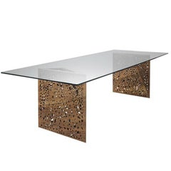Riddled Dining Table with Led Illuminated Base