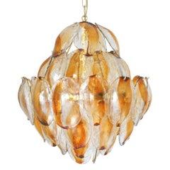 Italian Vintage Murano Glass Chandelier by La Murrina