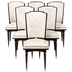 Set of Mahogany French Vintage Dining Chairs