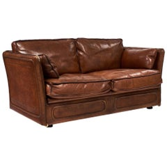 Hermes Style Buffalo Leather French Loveseat