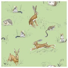 Hare, Hedgehog and Dormouse, Wallpaper from the for the Very Young Collection