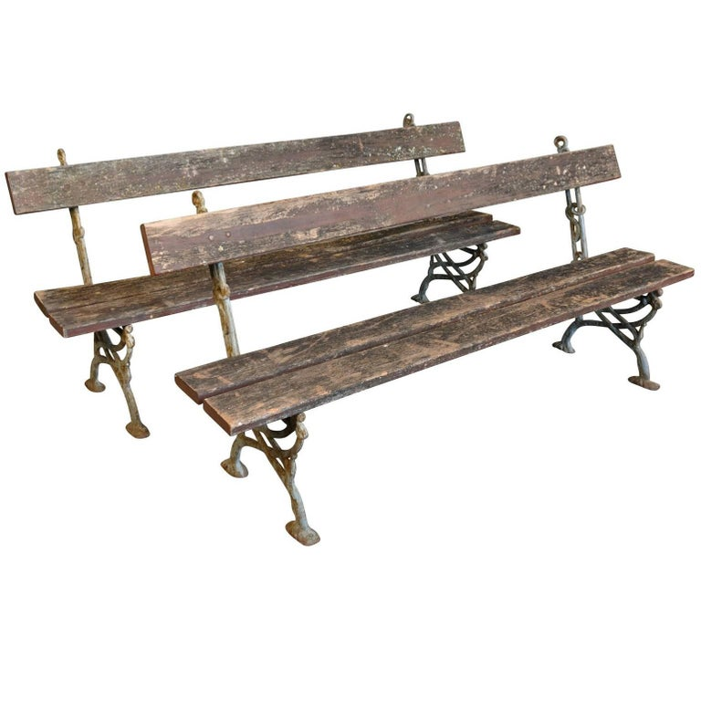 Pair of 19th Century French Garden Benches 1