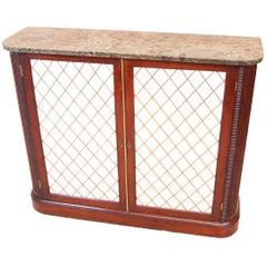 Antique Regency Mahogany Two-Door Side Cabinet