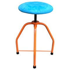 Vintage Mid-Century Modern Industrial Kitchen Stool