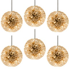 Set of Six Austrian Sputnik Chandeliers