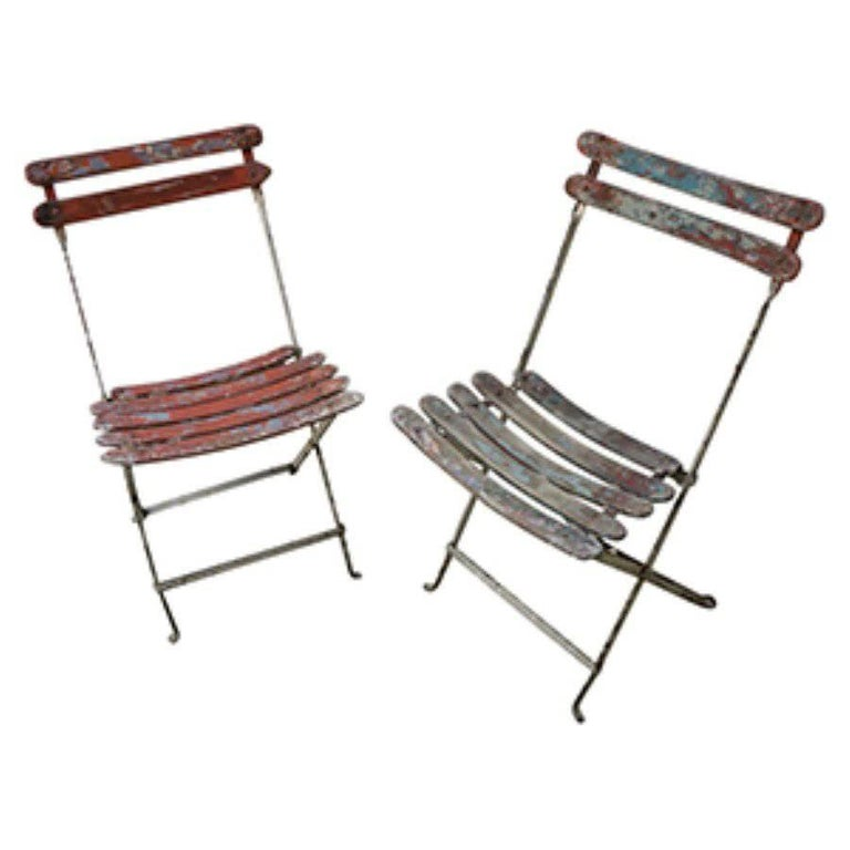 Antique French Folding Chairs For Sale at 1stdibs
