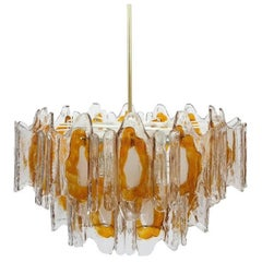 Hand Blown Murano Glass Chandelier by J.T. Kalmar, Austria,1970s