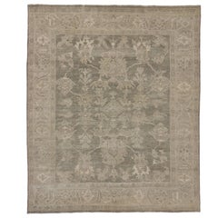 New Modern Oushak Rug with Transitional Style