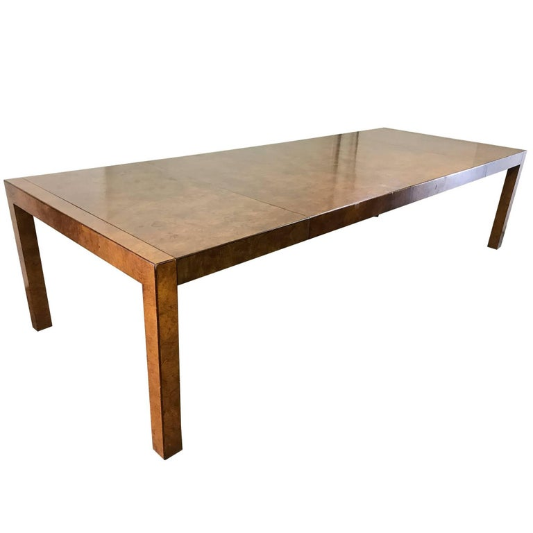 Burl Wood Parsons Style Dining Table by Widdicomb For Sale  : download10master from www.1stdibs.com size 768 x 768 jpeg 28kB
