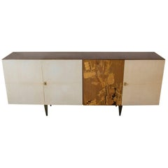 1950s, Italian Parchment Sideboard
