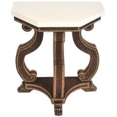 Antonius Demilune Octagonal Table with Limestone Top