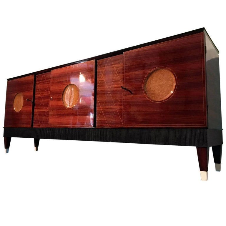 Italian Mid-Century Rosewood Sideboard attributed to Paolo Buffa, 1950s