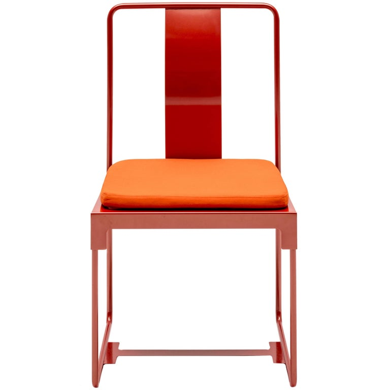 """""""Mingx"""" Outdoor Steel Chair Designed by Konstantin Grcic for Driade For Sale"""