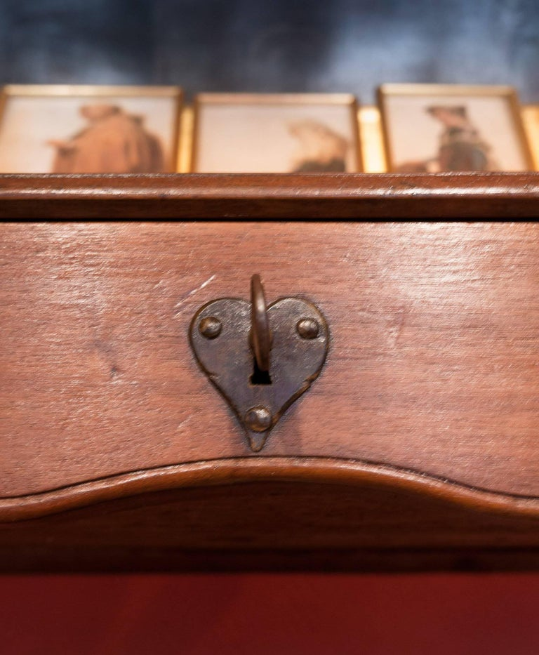Polished Mid-18th Century Provencal Notarial Office Furniture in Solid Walnut, circa 1750 For Sale
