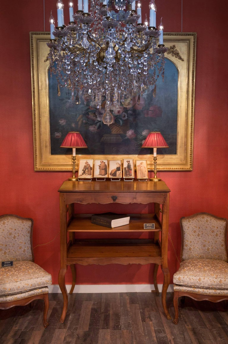 Louis XV Mid-18th Century Provencal Notarial Office Furniture in Solid Walnut, circa 1750 For Sale