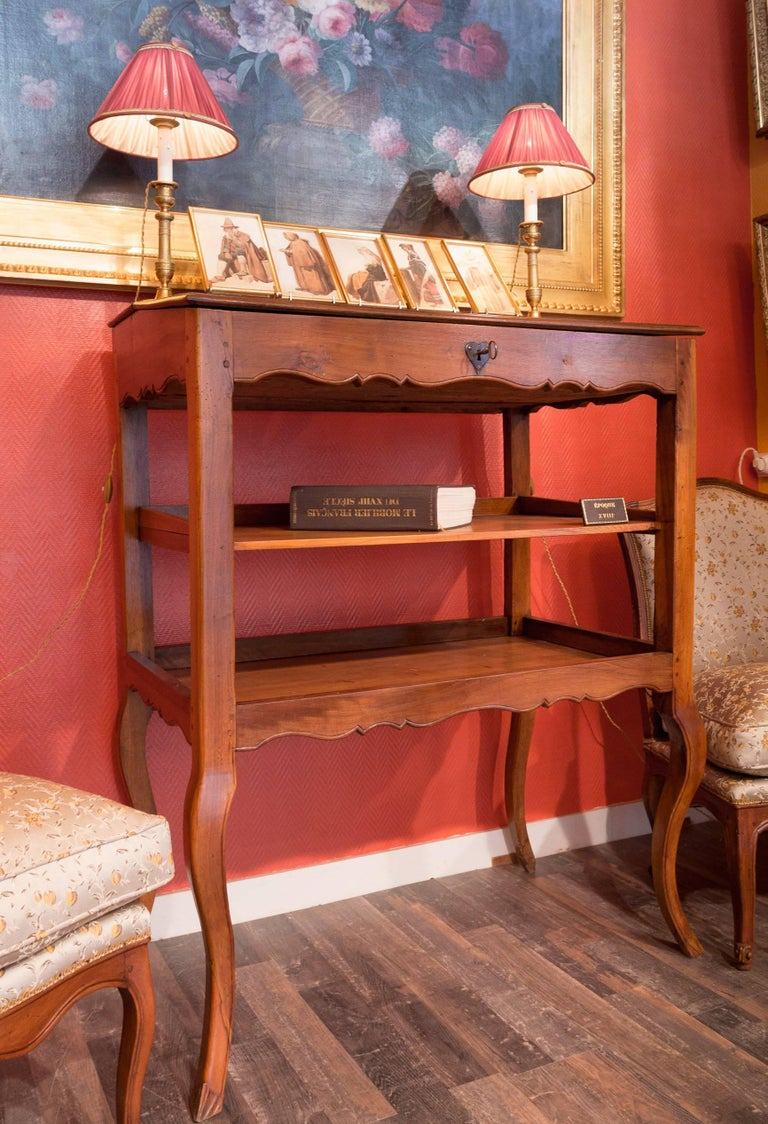 French Mid-18th Century Provencal Notarial Office Furniture in Solid Walnut, circa 1750 For Sale