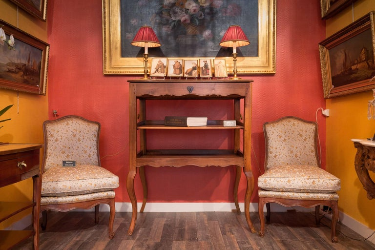 A Provencal Notarial office furniture in solid walnut. Our piece of furniture rests on lovely cabriole legs.  From Provence mid-18th century, circa 1750-1760.  Dimensions: 50.39 in. H, 38.97 in. W, 23.22 D.   This Notarial office furniture is in