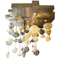 Exquisite Handblown Glass Chandelier Light Installation by Ken Gangbar
